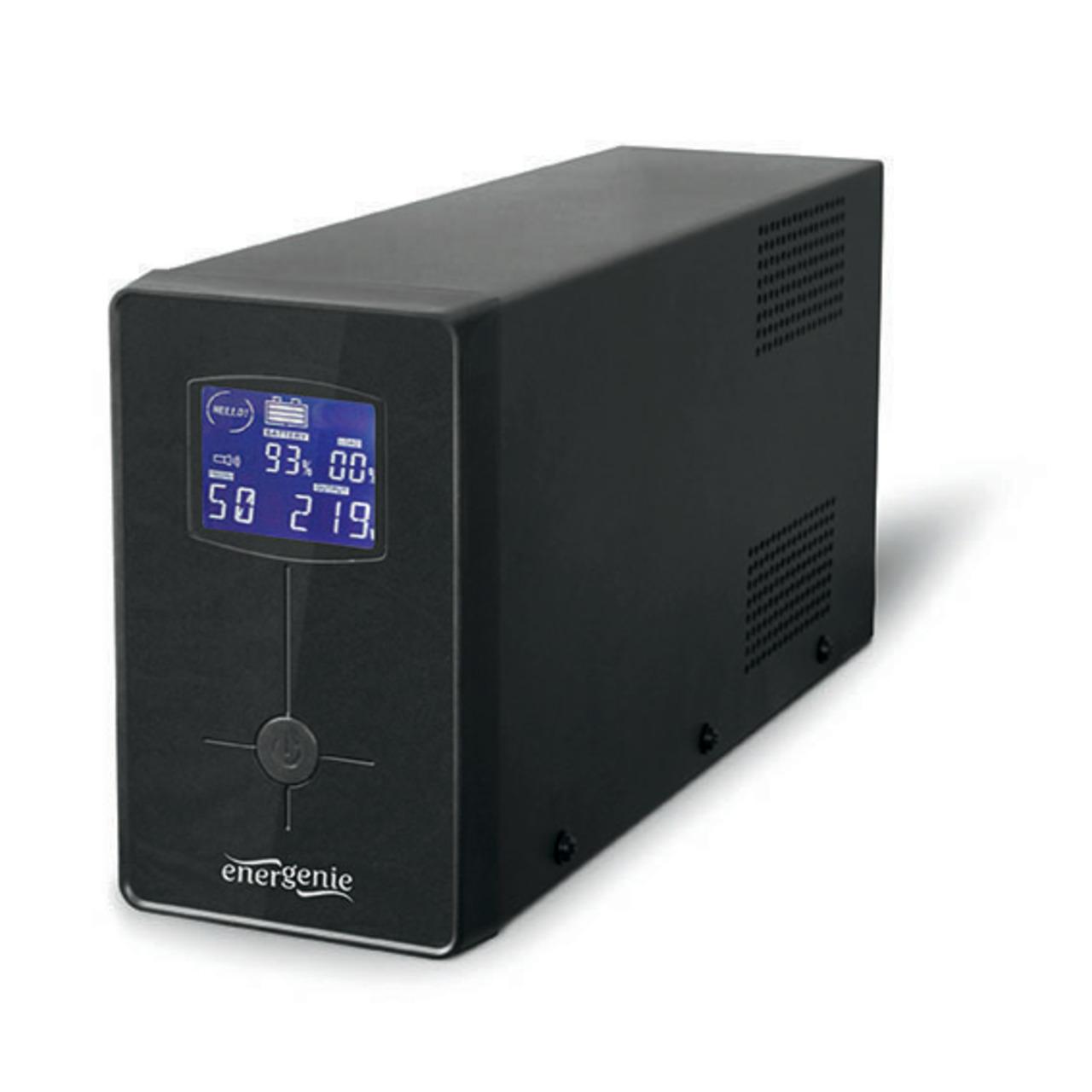 Energenie USV-Anlage mit LCD Anzeige- 850 VA- schwarz