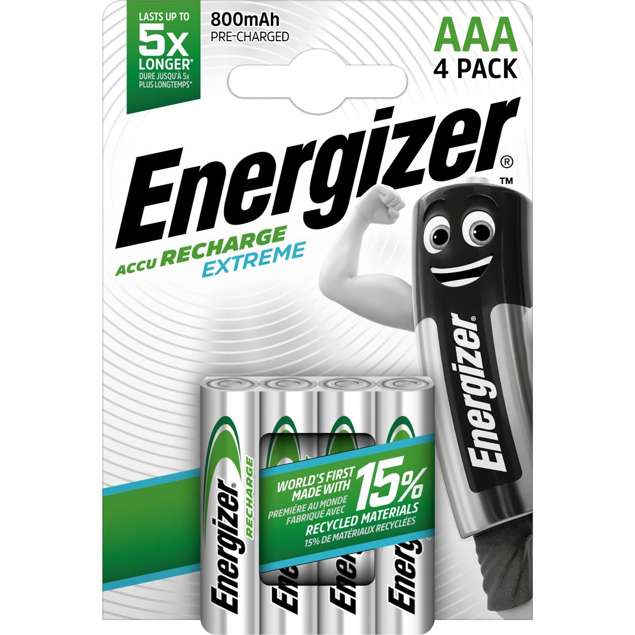 Energizer NiMH-Akku Extreme- Micro 800 mAh- vorgeladen 4er Pack