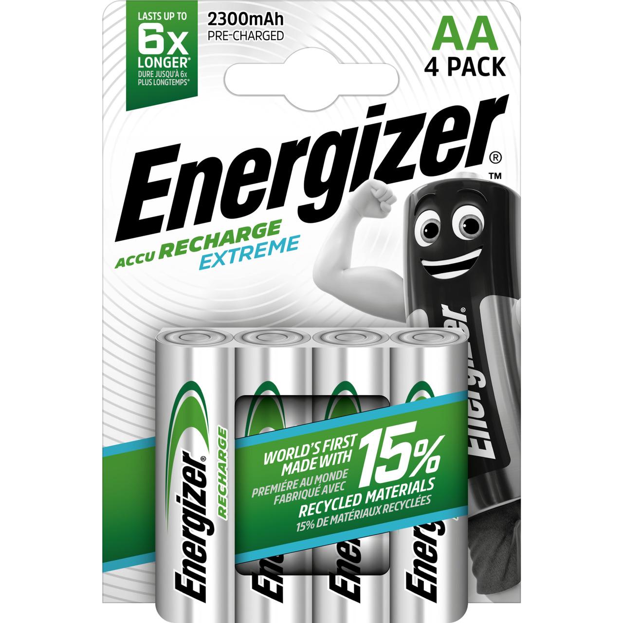 Energizer NiMH-Akku Extreme- Mignon 2300 mAh- vorgeladen 4er Pack