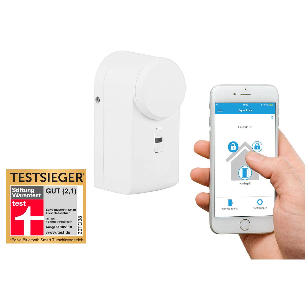 Eqiva BLUETOOTH(R) Smart T黵schlossantrieb mit App-Steuerung