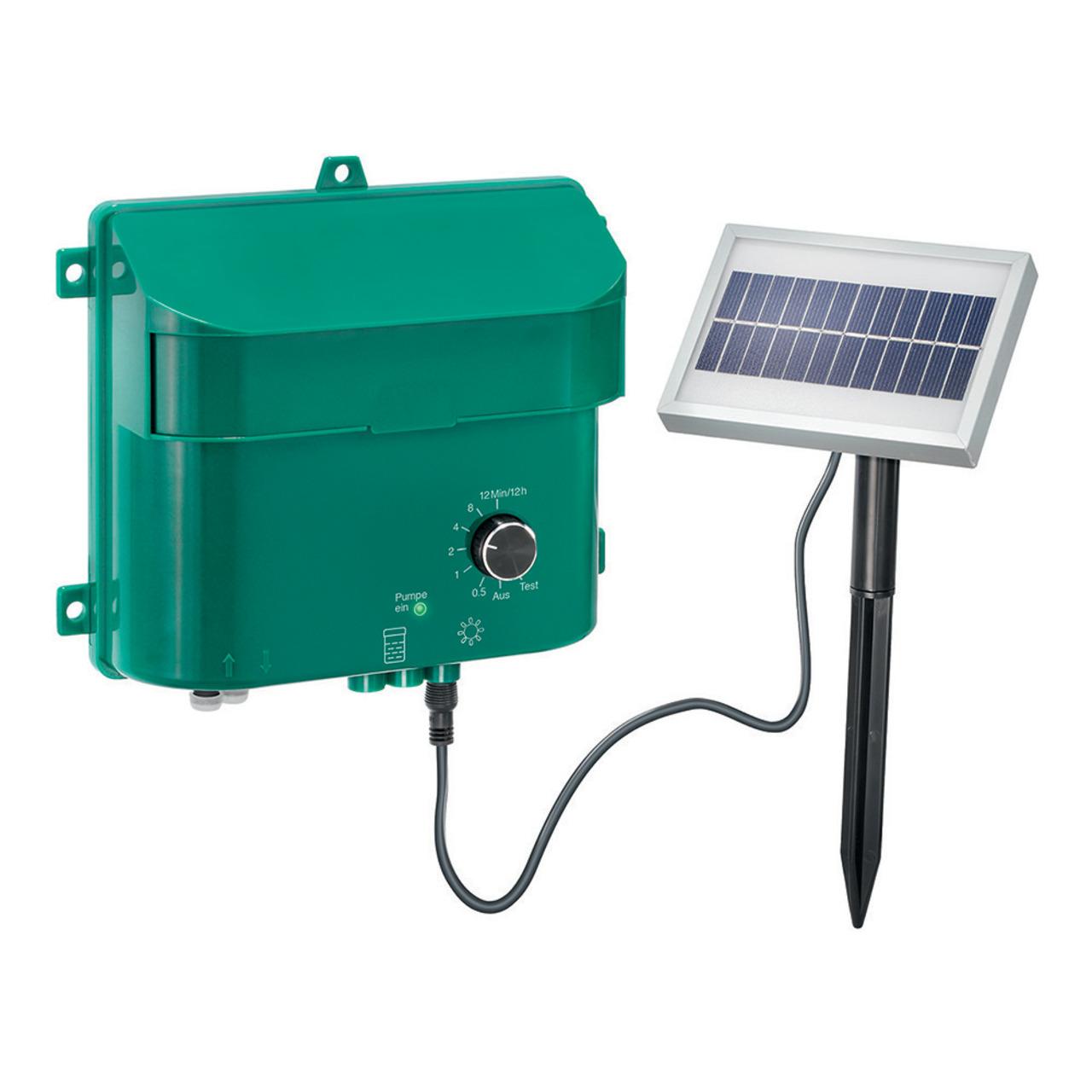 esotec Water Drops Solar-Bewässerungssystem mit 15 Tropfstellen- Akkubetrieb