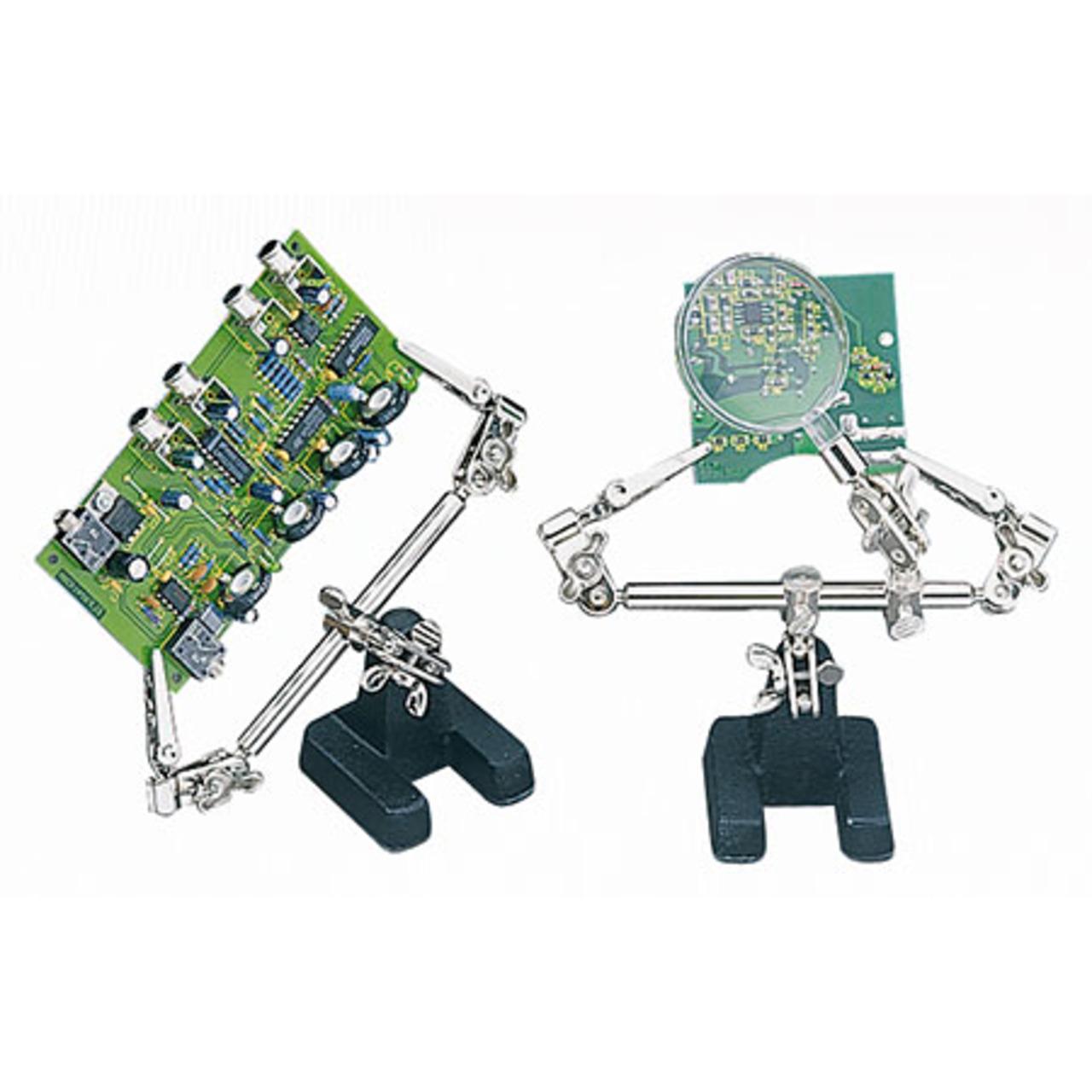 Fixpoint Löt- und Montagehilfe Dritte Hand- mit Lupe
