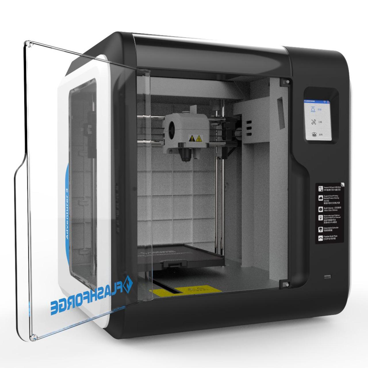 Flashforge FFF-3D-Drucker Adventurer 3- WLAN- LAN- USB- automatische Nivellierung- Echtzeitkamera