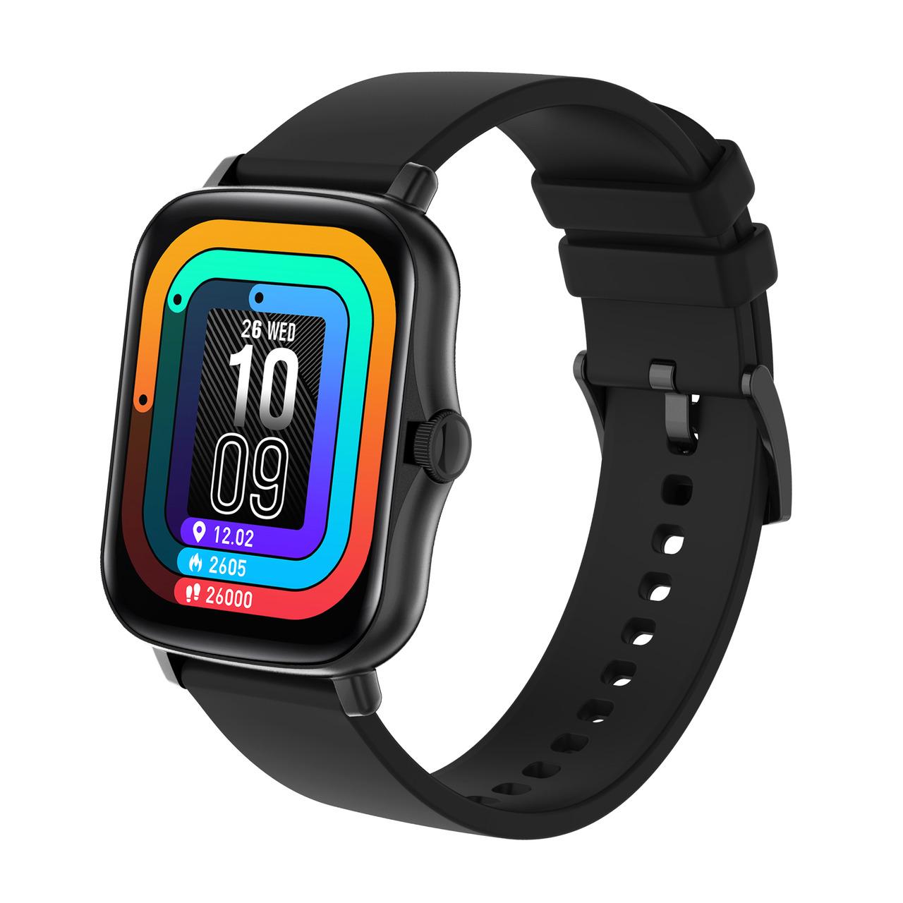 FontaFit Smartwatch 480CH TALIS- schwarz- mit Blutsauerstoffmessung und Schlafüberwachung- IP67