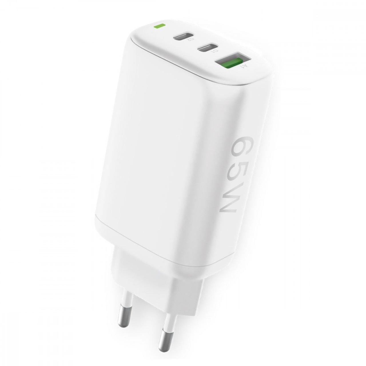 Fontastic USB-Schnell-Reiselader GaNto 65 W- weiss- Fast Charge und Power Delivery