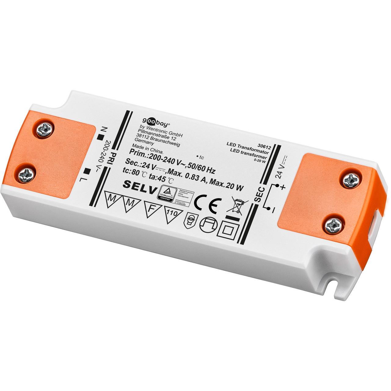 goobay 20-W-LED-Netzteil slim- 24 V DC