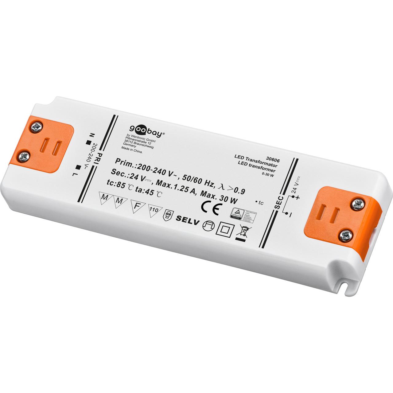 Goobay 30-W-LED-Netzteil slim- 24 V DC