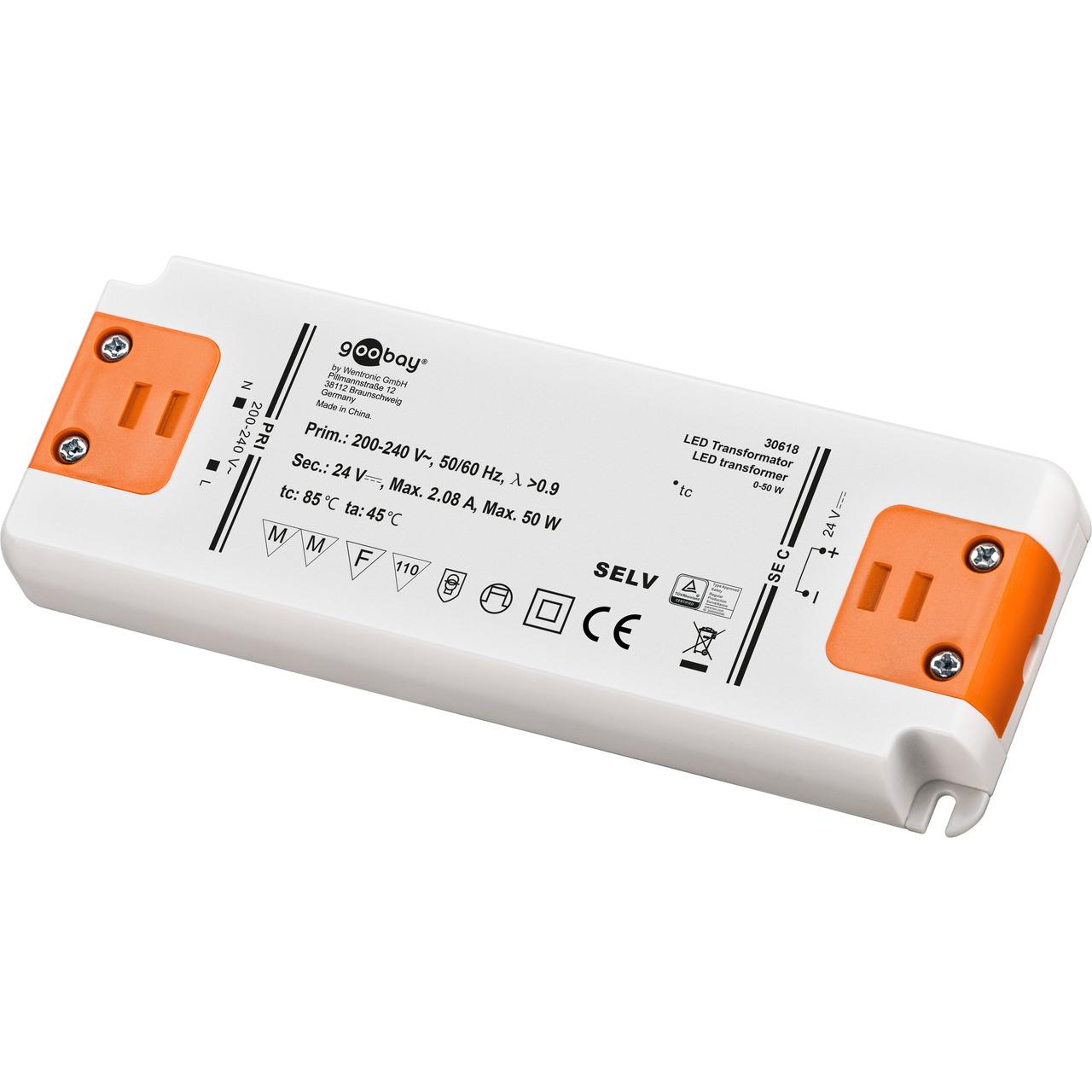 goobay 50-W-LED-Netzteil slim- 24 V DC