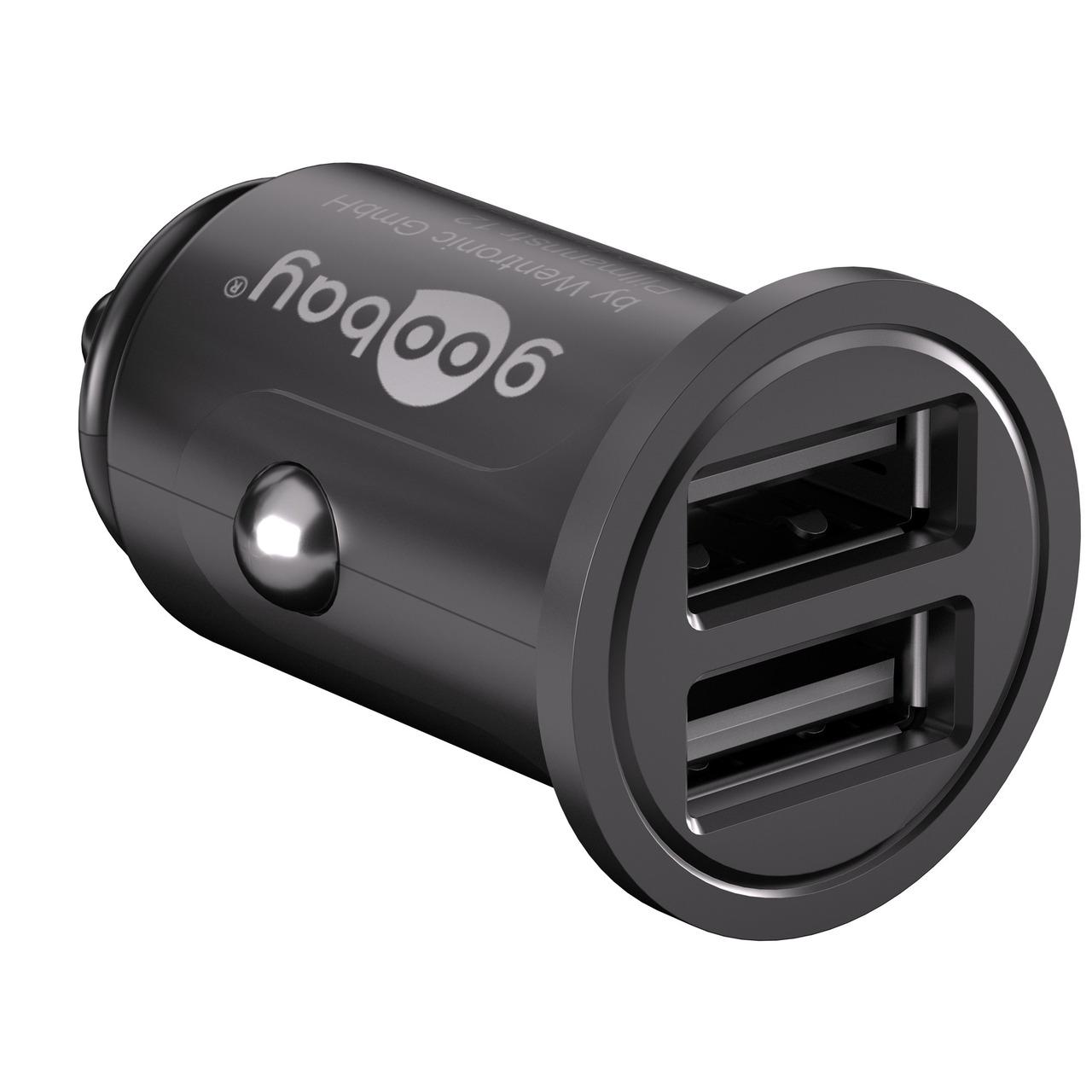 Goobay USB-Autoladegerund-228 t 4-8 A- 2 x USB 2-0-Buchse (Typ A)