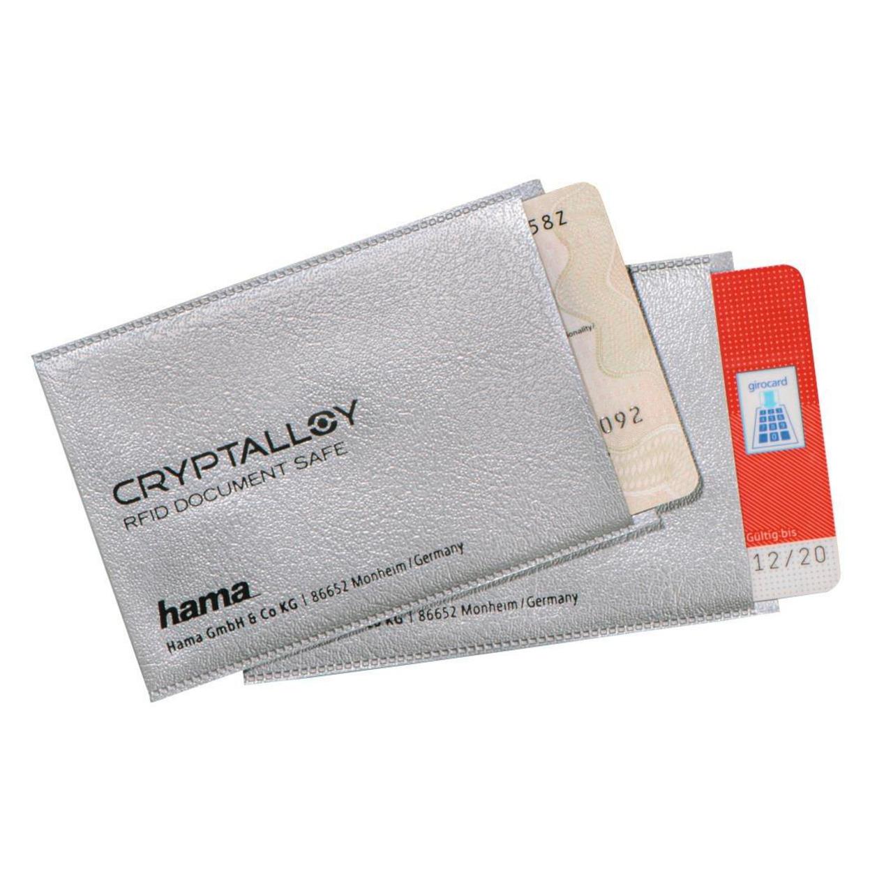 Hama 2er-Set RFID-NFC-Schutzhüllen für EC- Kredit- Zutrittskarten und Personalausweis