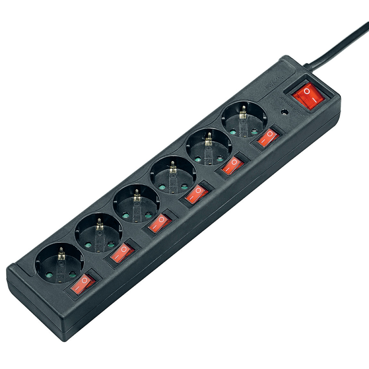 hama 6-fach-Steckdosenleiste- einzeln schaltbar
