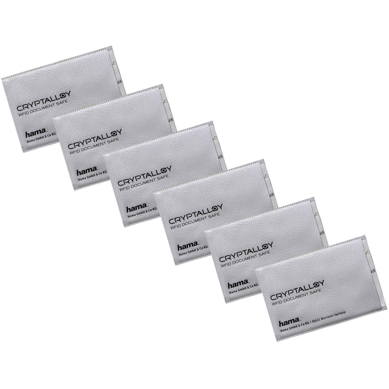 hama 6er-Spar-Set RFID-NFC-Schutzhüllen für EC- Kredit- Zutrittskarten und Personalausweis
