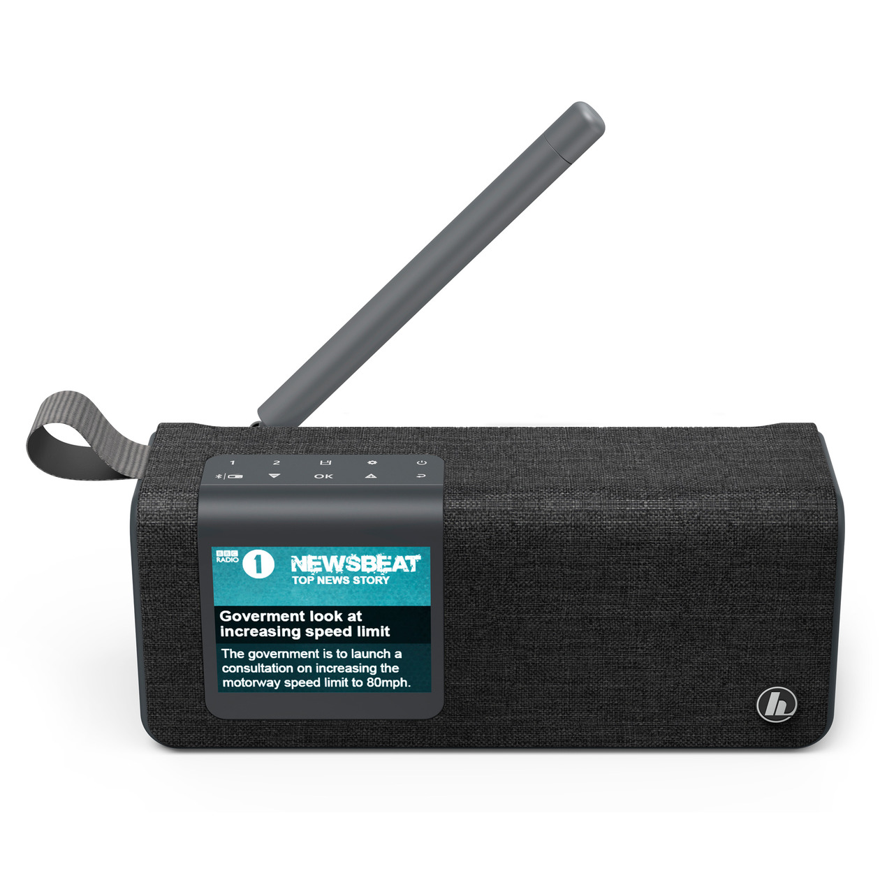 hama Portables Digitalradio DR200BT BLACK-Edition- UKW-DAB+- Akkubetrieb- Bluetooth-Lautsprecher