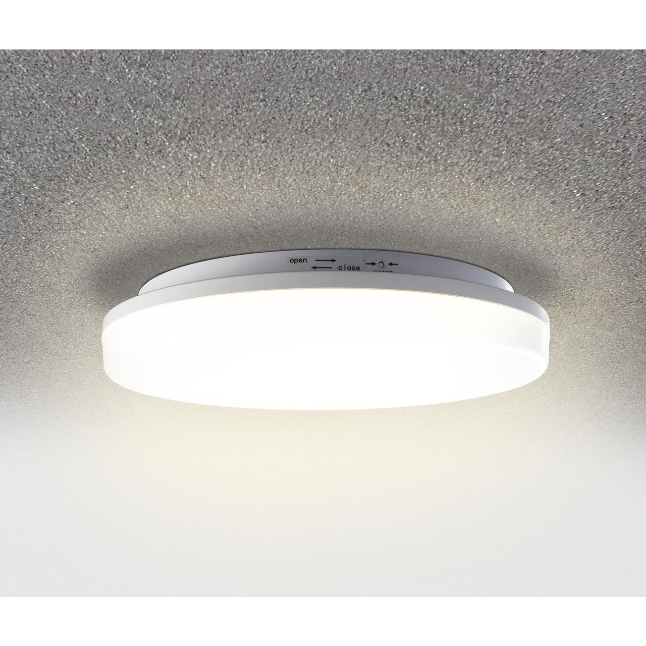 HEITRONIC 24-W-LED-Wand-Deckenleuchte Pronto mit Bajonett-Anschluss- rund- warmweiss- IP54