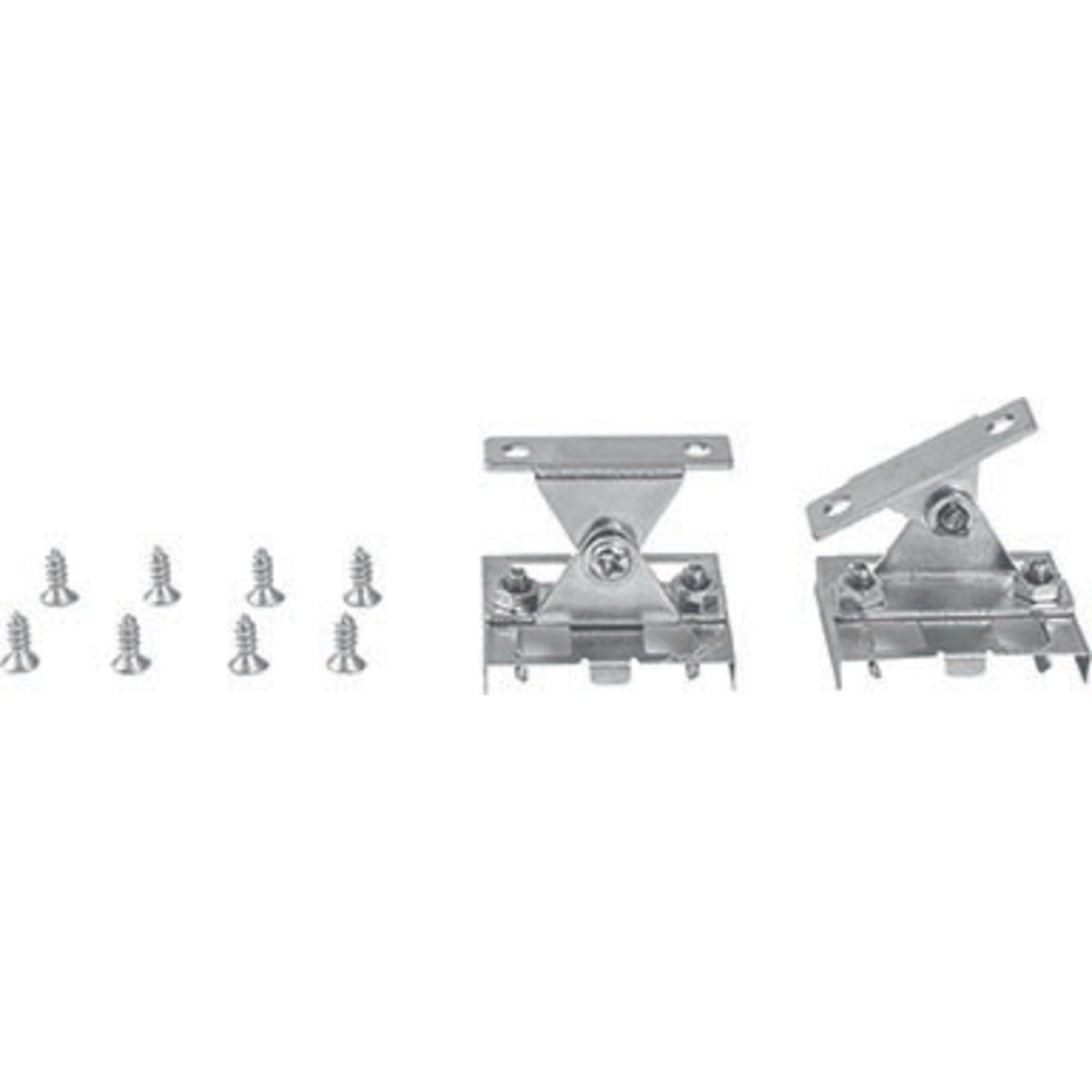 HEITRONIC 2er Set Halteklammern- verstellbar- für Mecano-System