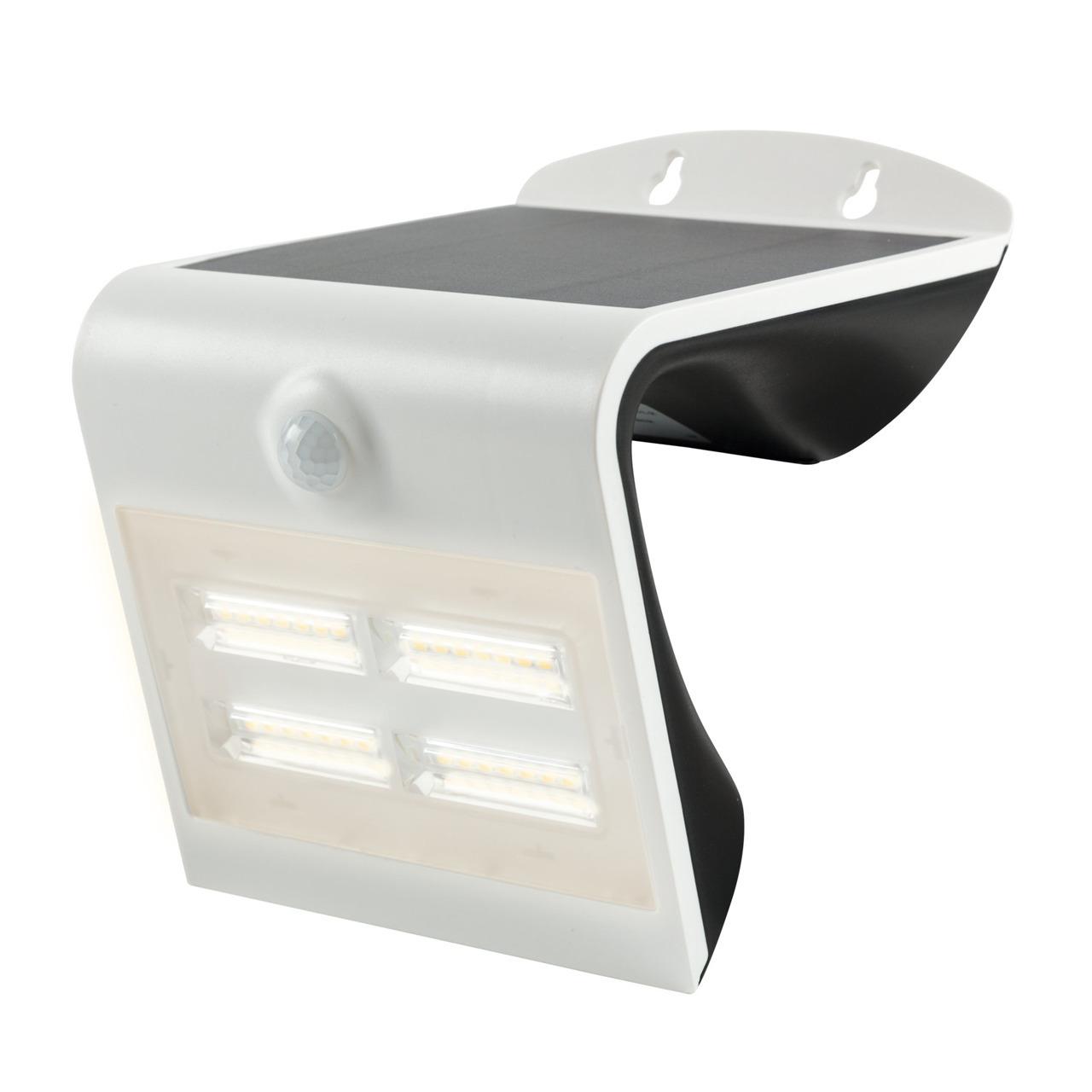 HEITRONIC 3-2-W-Solar-LED-Wandleuchte mit 120-Bewegungsmelder- warmweiss