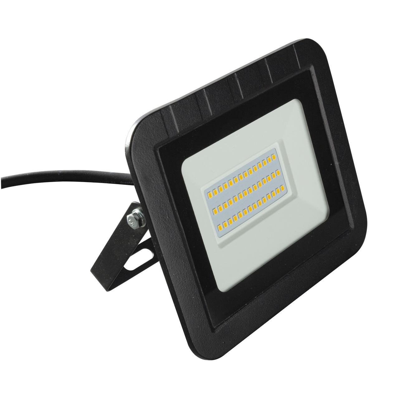 HEITRONIC 30-W-LED-Flutlichtstrahler YORK- 3000 lm- 3000 K- IP65- schwarz