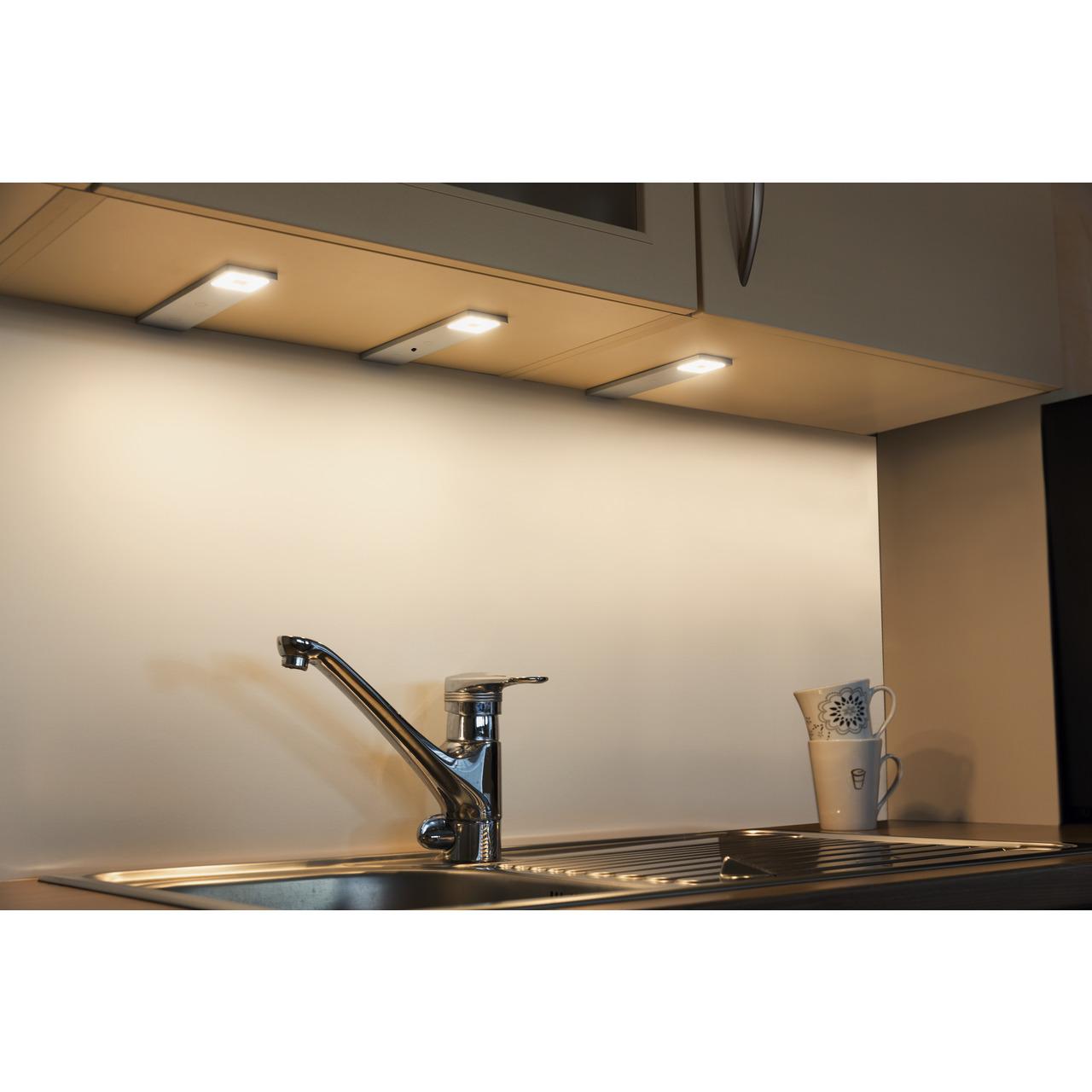 HEITRONIC 3er-Set LED-Unterbauleuchte Imola- warmweiss- erweiterbar auf bis zu 6 Spots