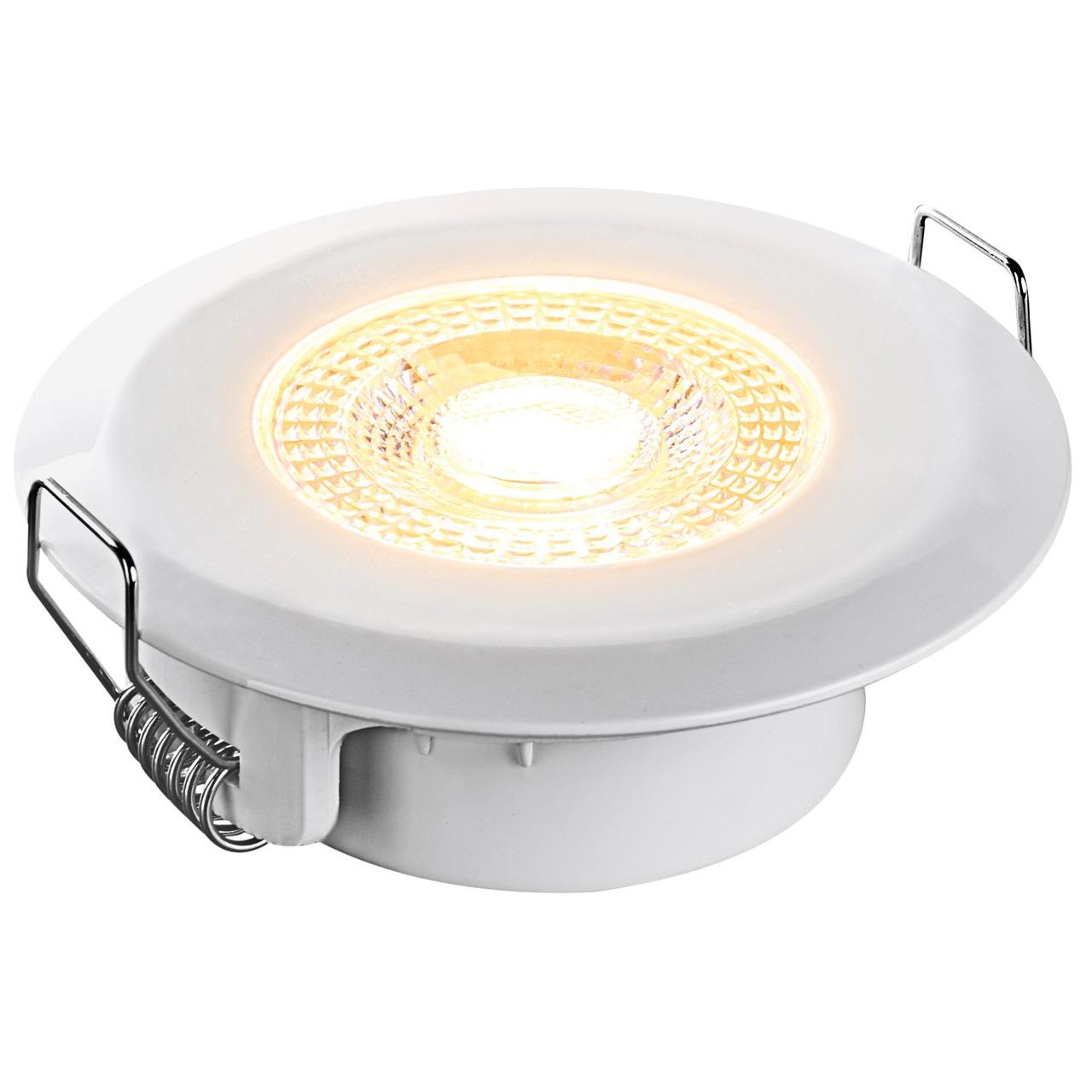 HEITRONIC 5-W-LED-Einbaustrahler DL7202- rund- weiund-223 - dimmbar per Lichtschalter- IP44