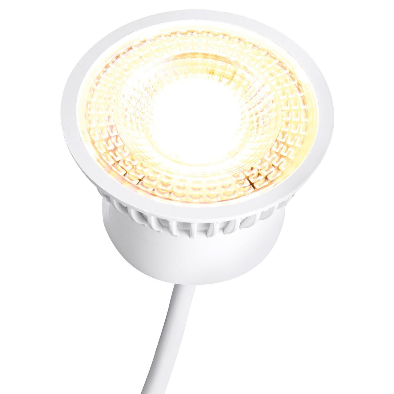 HEITRONIC 5-W-LED-Modul für Standard-GU10-GU5-3-Fassungen- 3fach dimmbar per Lichtschalter- warmweiss