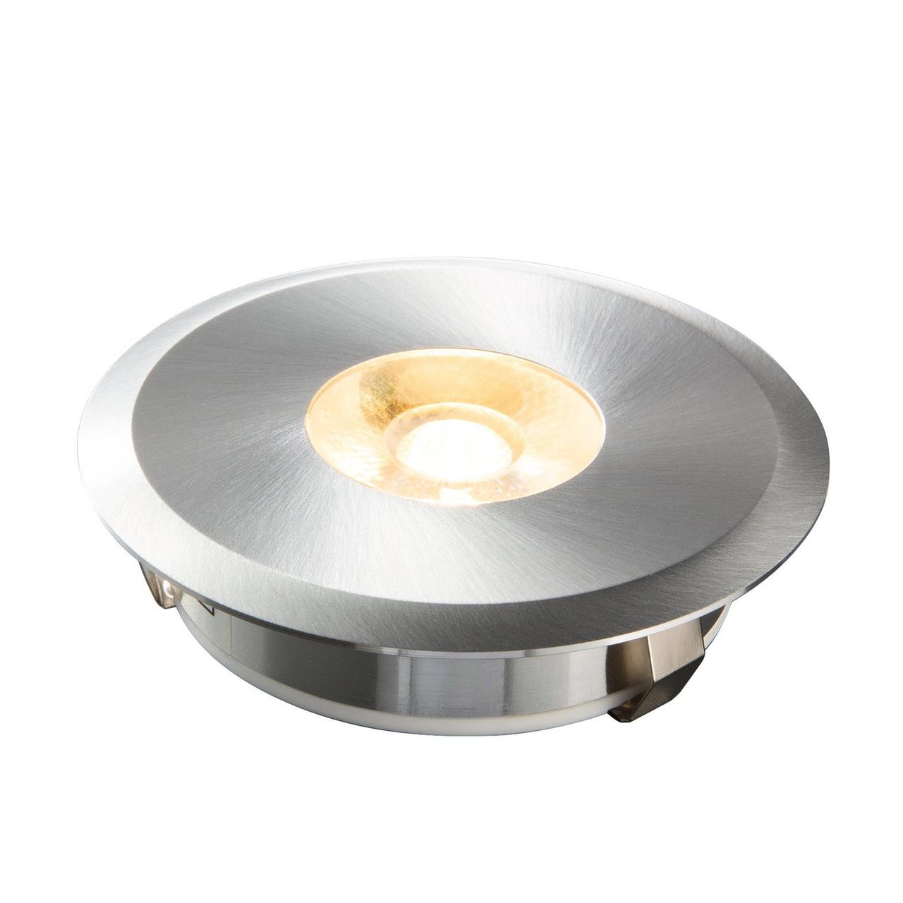 HEITRONIC 6-W-LED-Einbaustrahler AUSTIN aus gebürstetem Aluminium- rund- IP20- Einbautiefe nur 20 mm