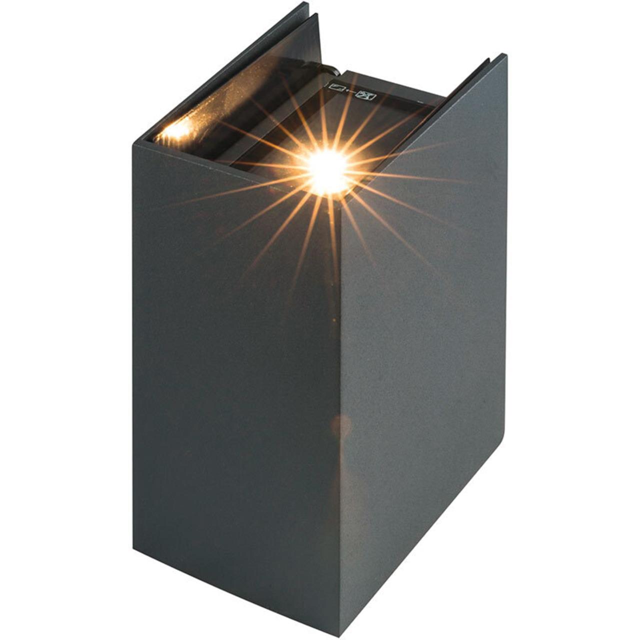 HEITRONIC 6-W-LED-Wandleuchte TILO mit einstellbarem Abstrahlwinkel- warmweiss- IP54