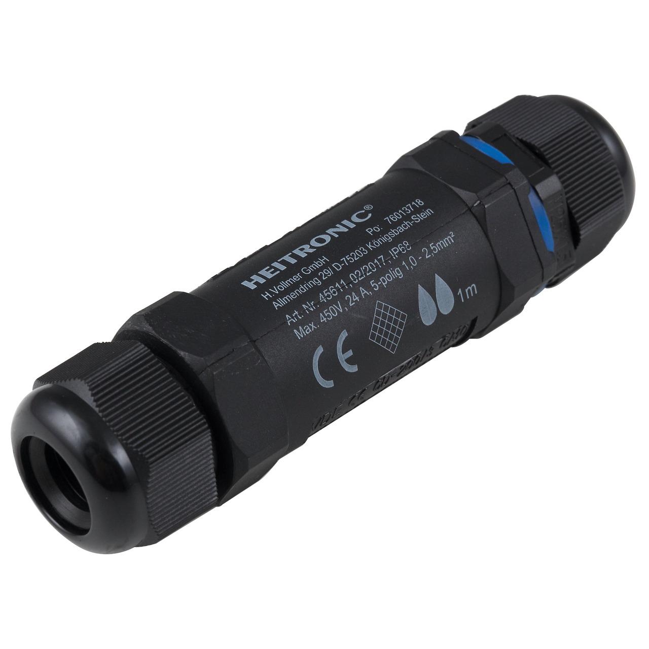 Heitronic Kabelverbinder- 5-polig- IP68- wasserdicht bis 1 m