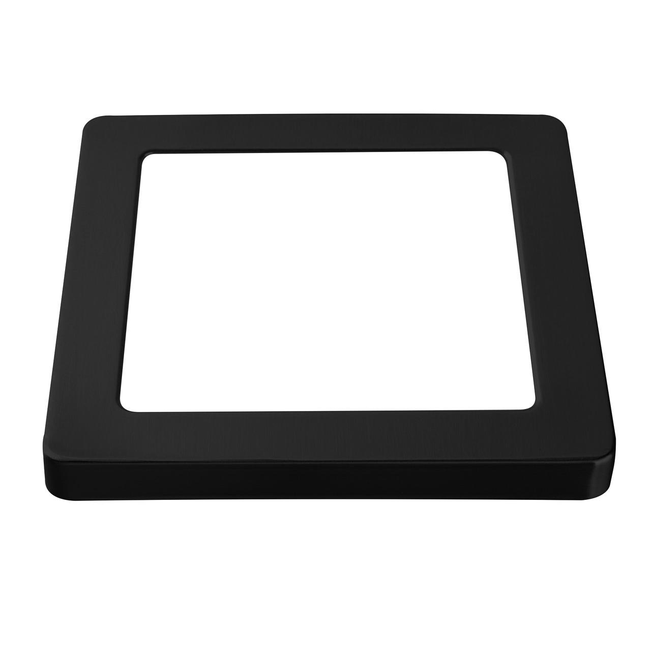 HEITRONIC Metallring für LED-Panel SELESTO- eckig- schwarz