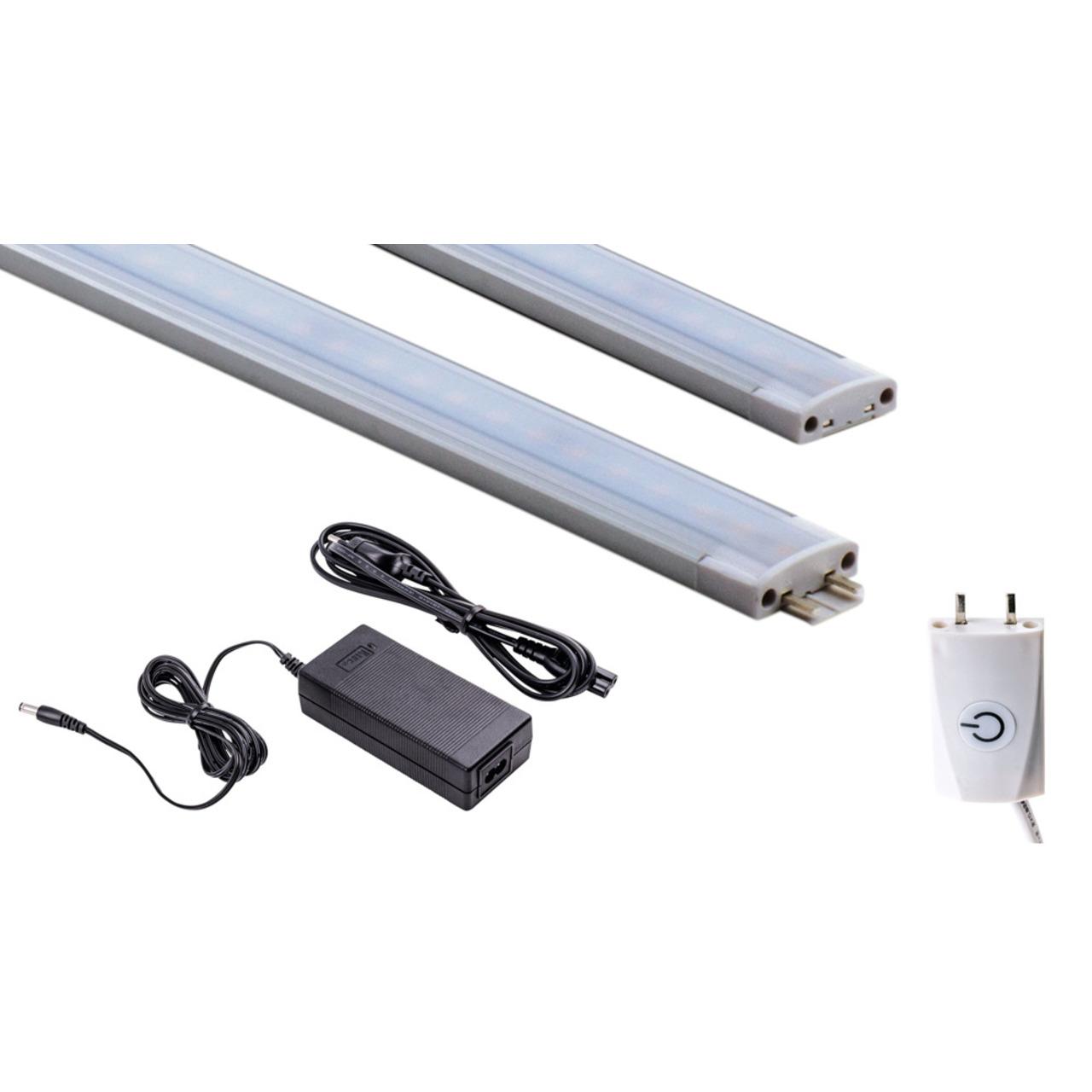 HEITRONIC Starterset 15-W-LED-Unterbauleuchte Mecano 1000 mm und 1-8 m Anschlussleitung