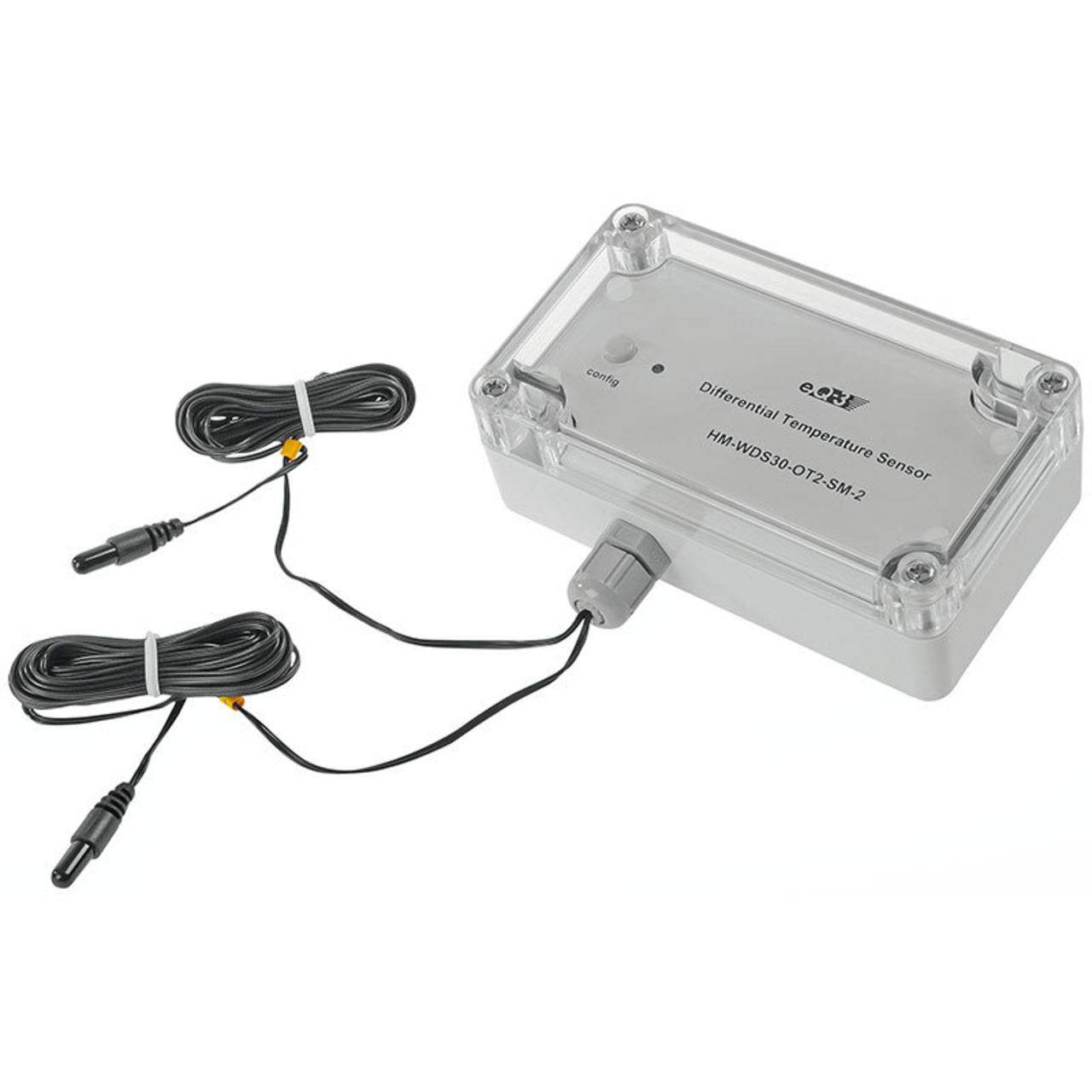 Homematic Differenz-Temperatur-Sensor HM-WDS30-OT2-SM-2 für Smart Home - Hausautomation