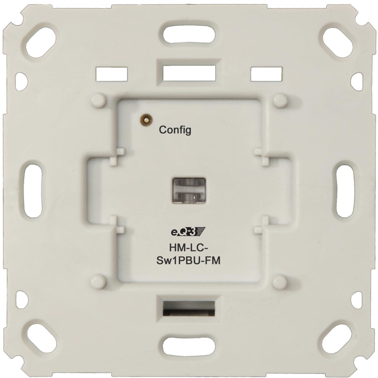 Homematic Funk-Schaltaktor für Markenschalter- 1fach Unterputzmontage HM-LC-Sw1PBU-FM