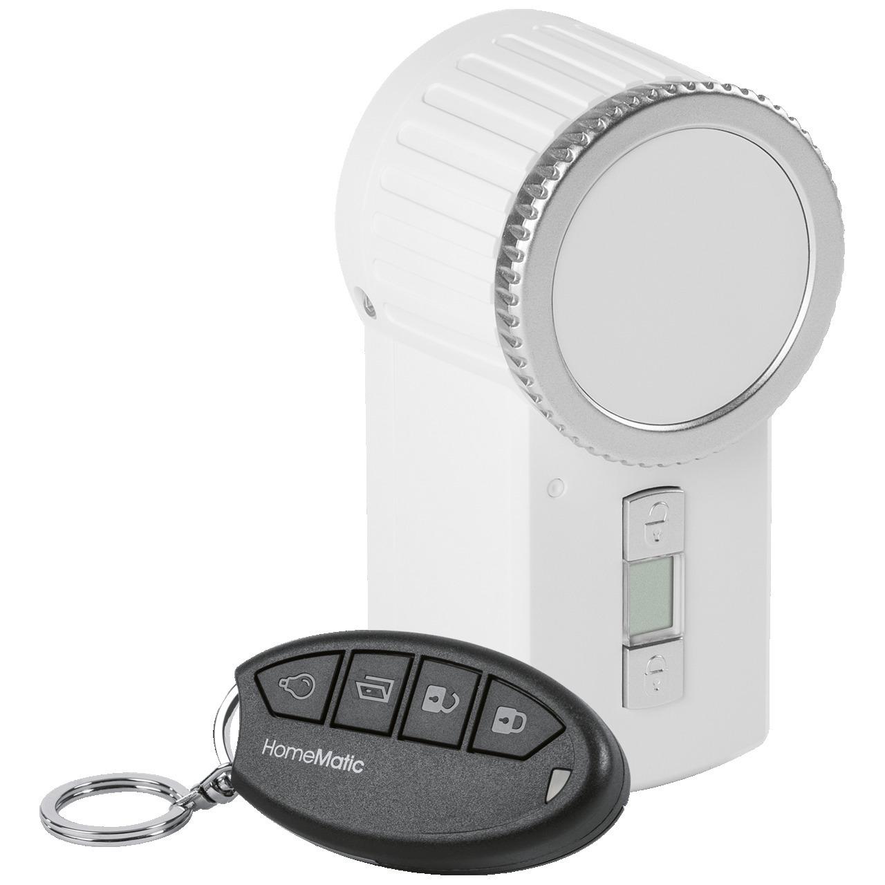 Homematic Funk-Türschlossantrieb KeyMatic- weiss inkl- Funk-Handsender HM-Sec-Key
