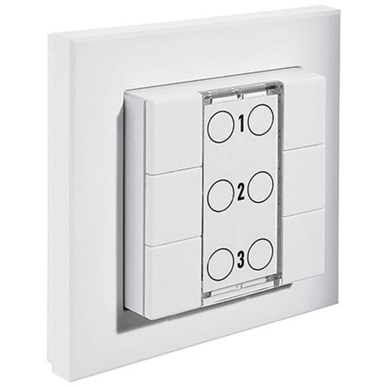 Homematic Funk-Wandsender 6fach HM-PB-6-WM55 für Smart Home - Hausautomation