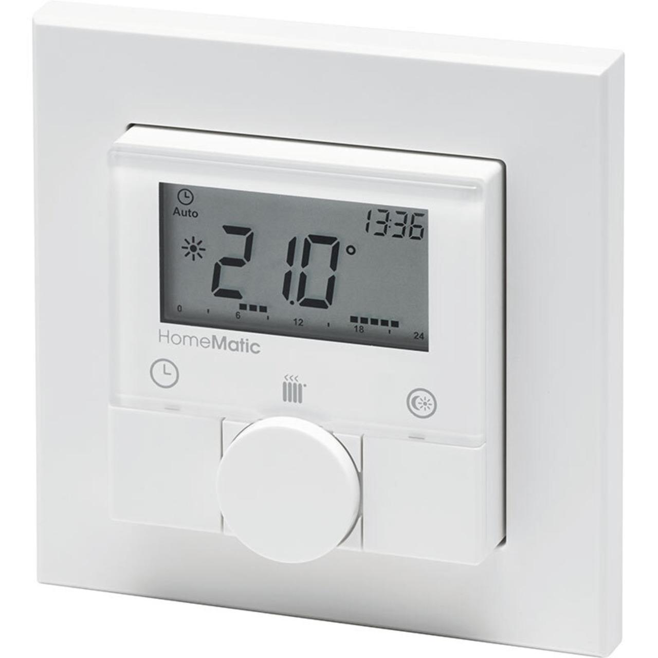 Homematic Funk-Wandthermostat HM-TC-IT-WM-W-EU für Smart Home - Hausautomation
