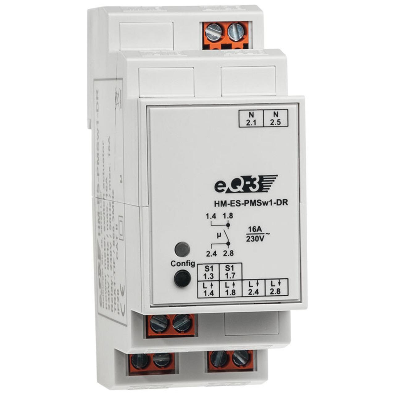 Homematic Hutschienen-Schaltaktor mit Leistungsmessung HM-ES-PMSw1-DR