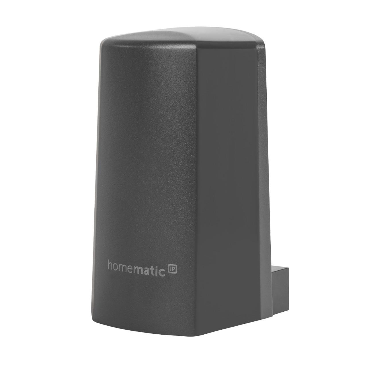 Homematic IP Funk-Temperatur- und Luftfeuchtigkeitssensor HmIP-STHO-A- anthrazit- aussen
