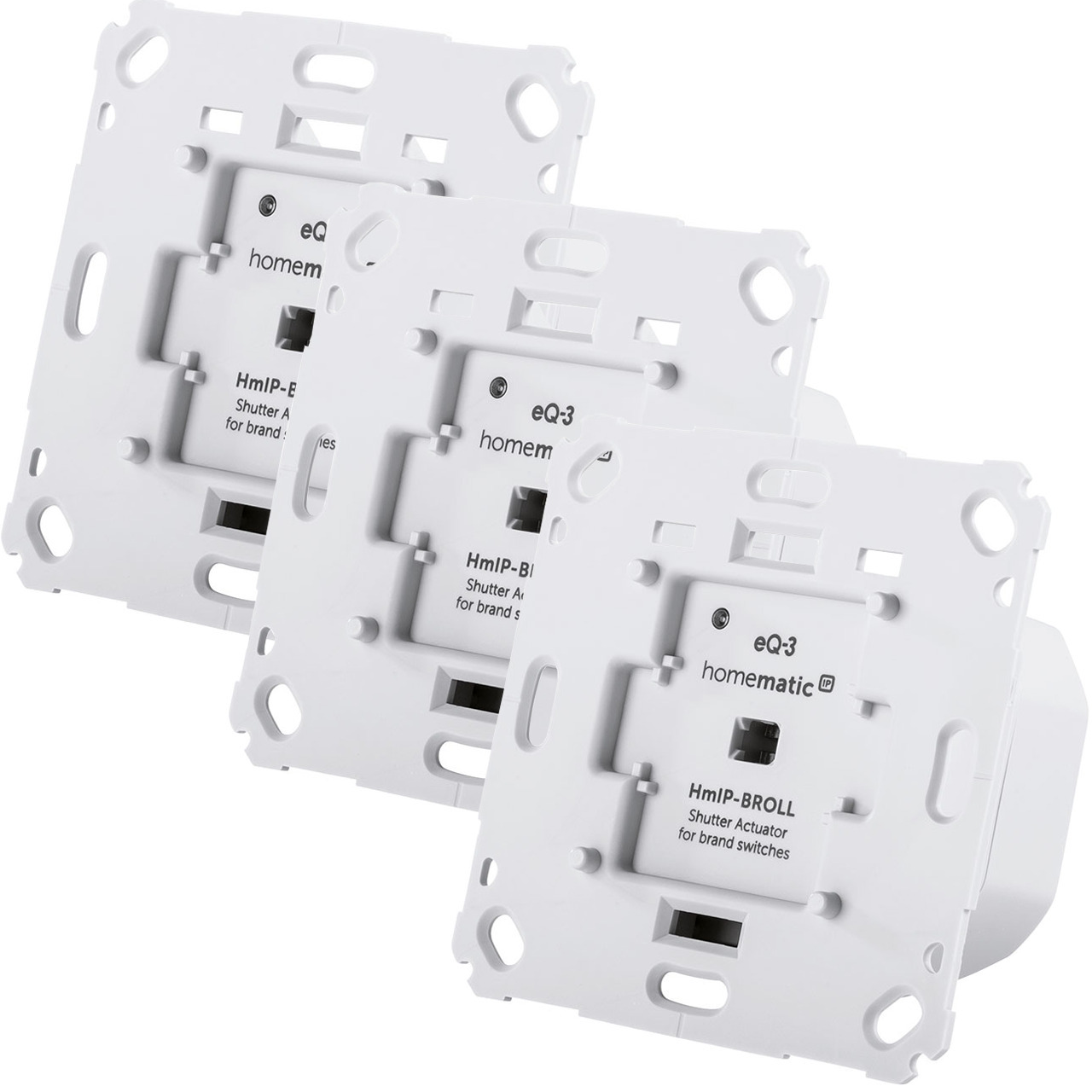Homematic IP Smart Home 3er Rollladenaktor HmIP-BROLL für Markenschalter