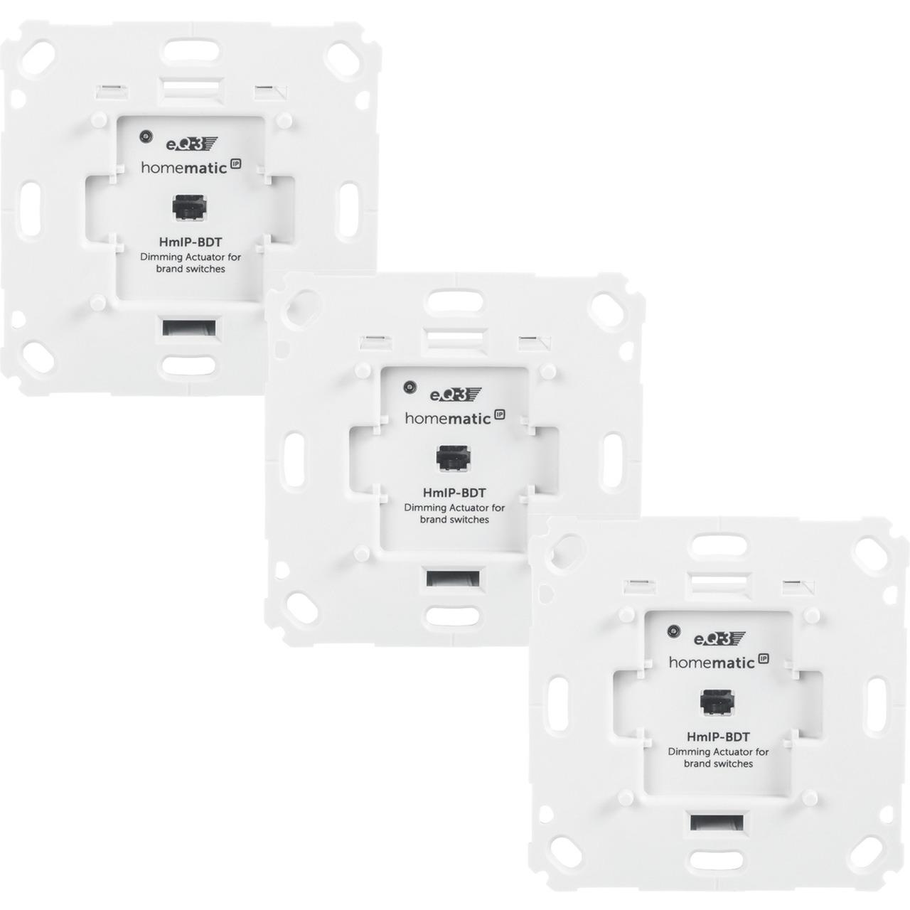 Homematic IP Smart Home 3er Set Dimmaktor HmIP-BDT für Markenschalter - Phasenabschnitt