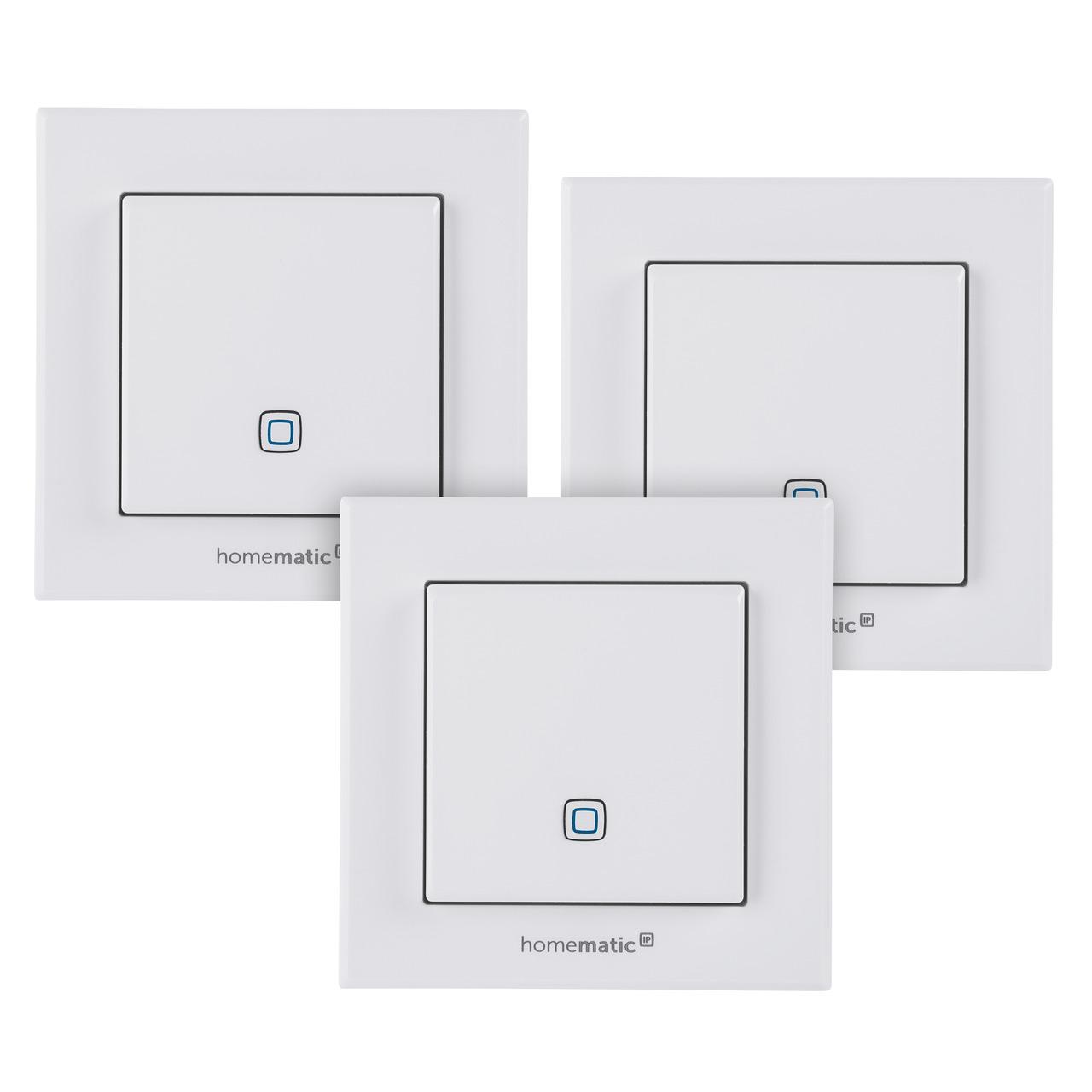 Homematic IP Smart Home 3er Set Temperatur- und Luftfeuchtigkeitssensor- innen