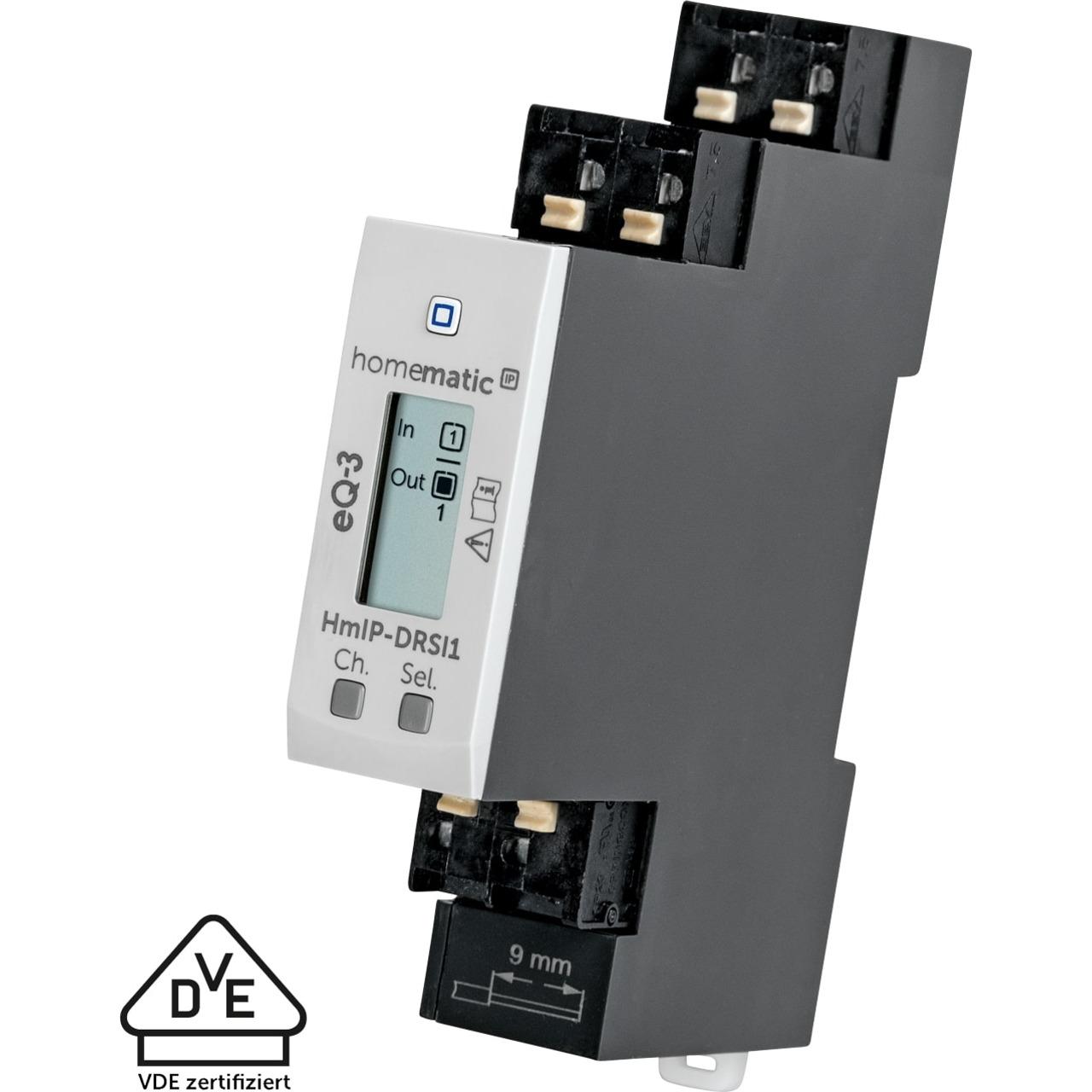 Homematic IP Smart Home Funk-Schaltaktor für Hutschienenmontage- HmIP-DRSI1- 1-fach