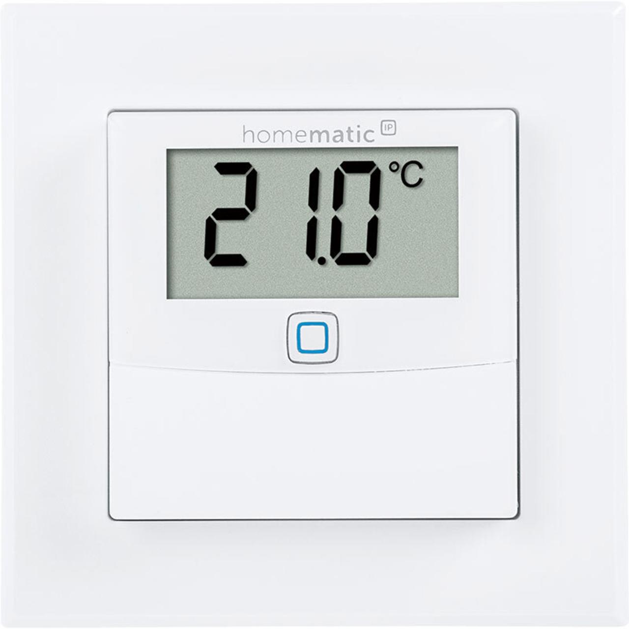Homematic IP Smart Home Temperatur- und Luftfeuchtigkeitssensor HmIP-STHD mit Display- innen