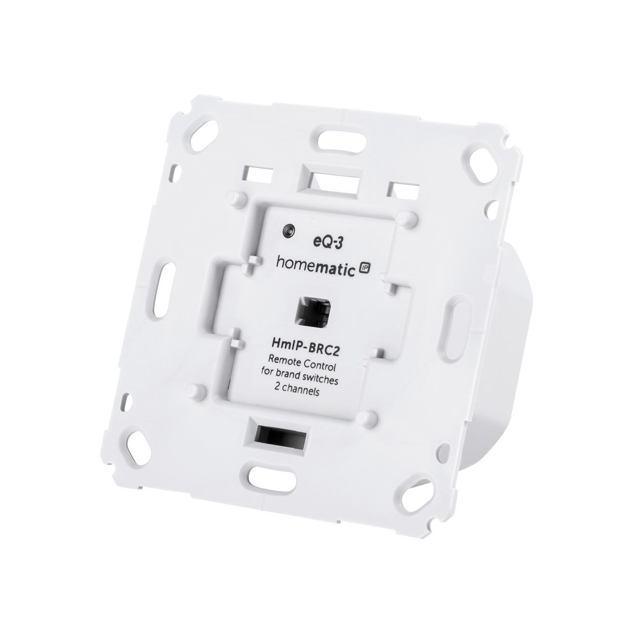 Homematic IP Smart Home Wandtaster für Markenschalter- 2-fach HmIP-BRC2