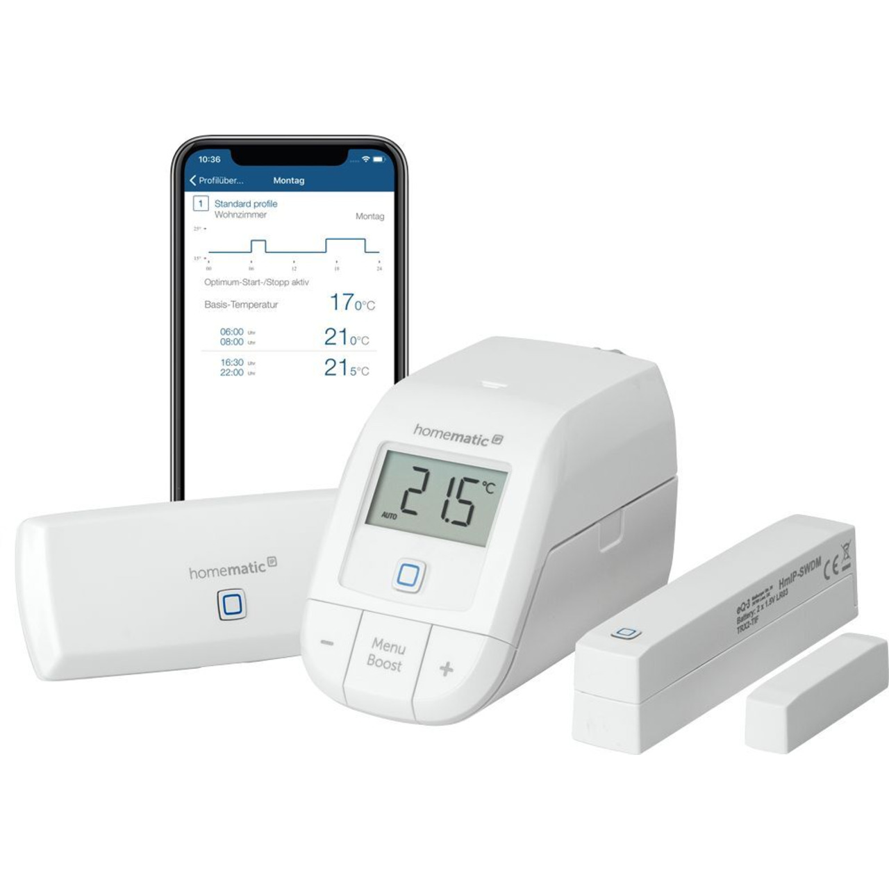 Homematic IP Smart Home WLAN Starter Set Raumklima mit WLAN Access Point- HmIP-SK12
