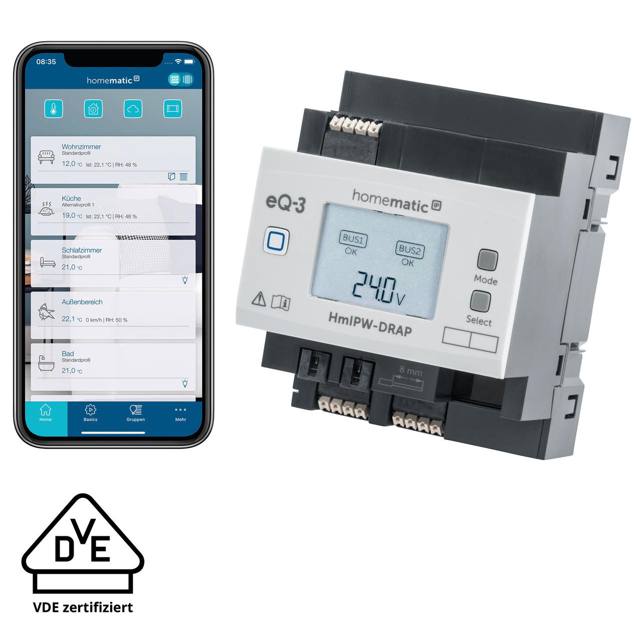 Homematic IP Wired Access Point HmIPW-DRAP- VDE zertifiziert