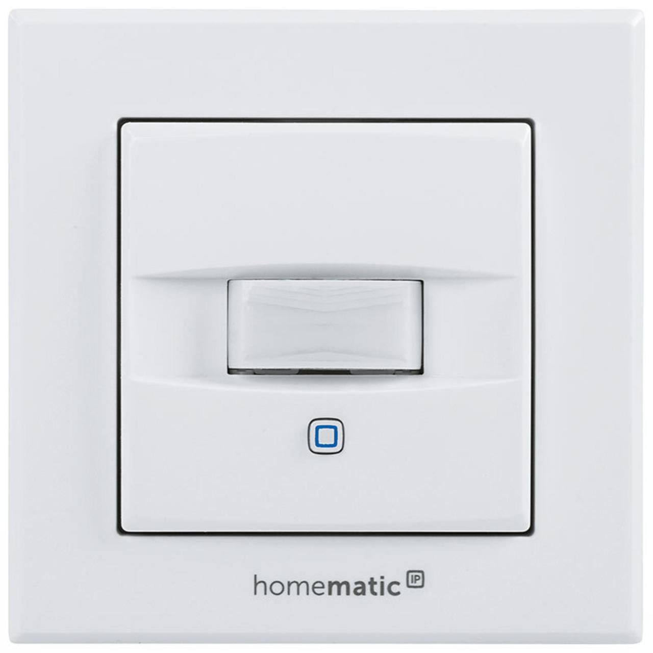 Homematic IP Wired Bausatz Bewegungsmelder und Wandtaster fund-252 r 55er Rahmen HmIPW-SMI55
