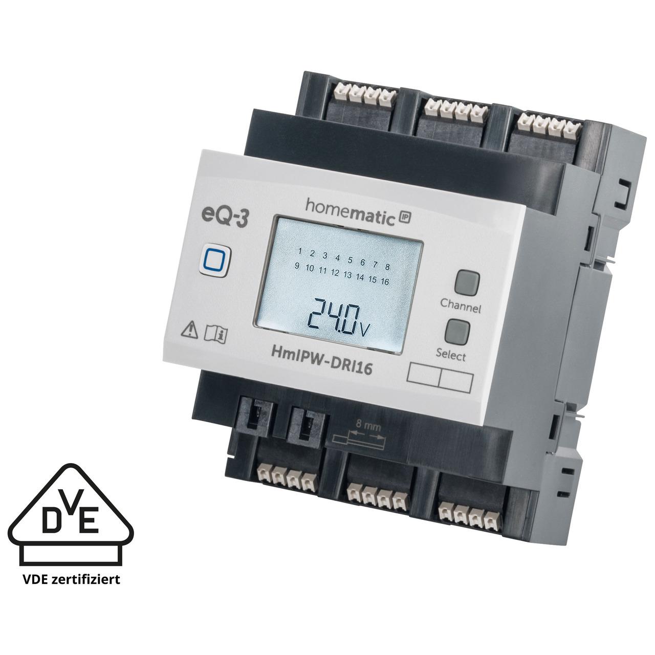 Homematic IP Wired Smart Home 16-fach-Eingangsmodul HmIPW-DRI16- VDE zertifiziert