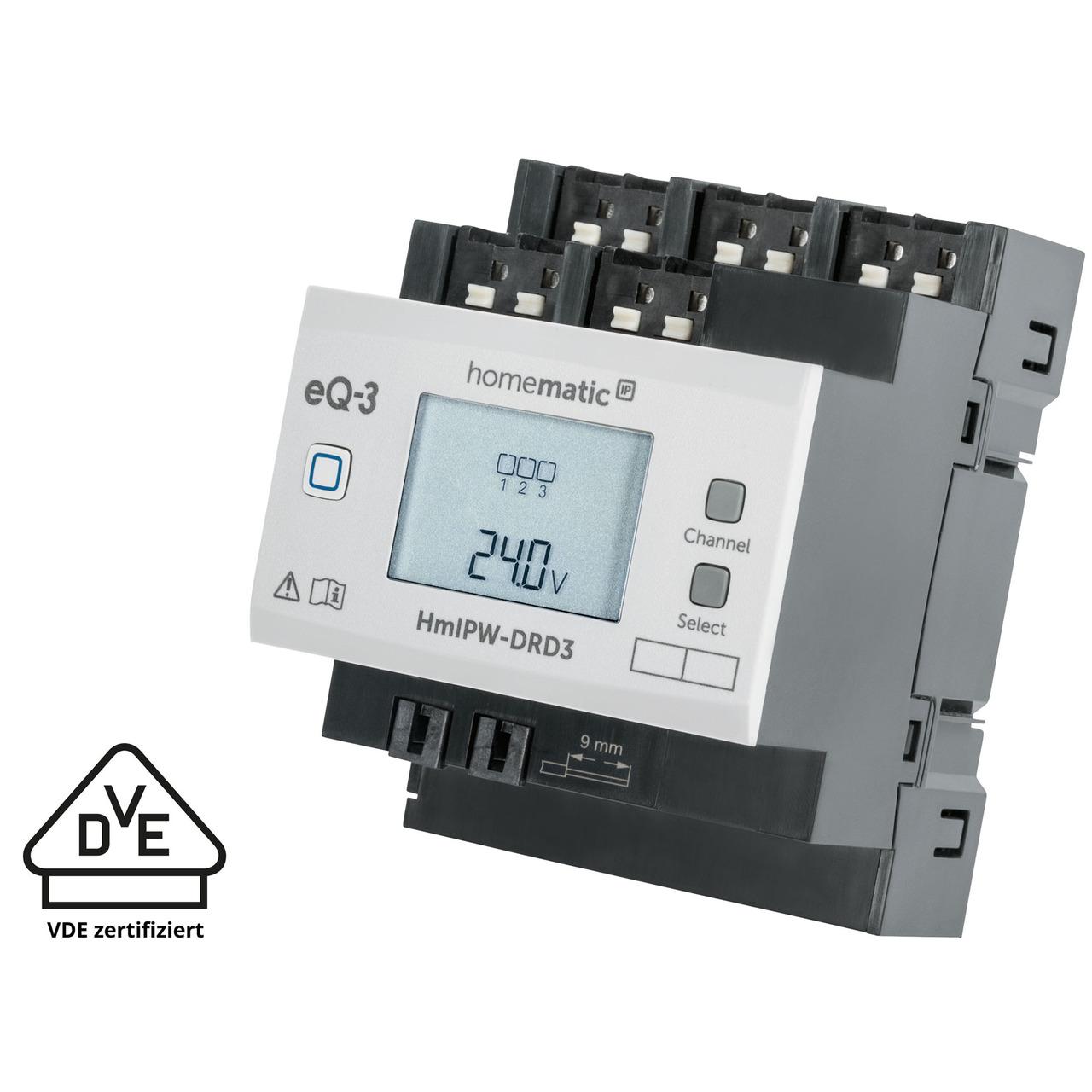 Homematic IP Wired Smart Home 3-fach-Dimmaktor HmIPW-DRD3- VDE zertifiziert