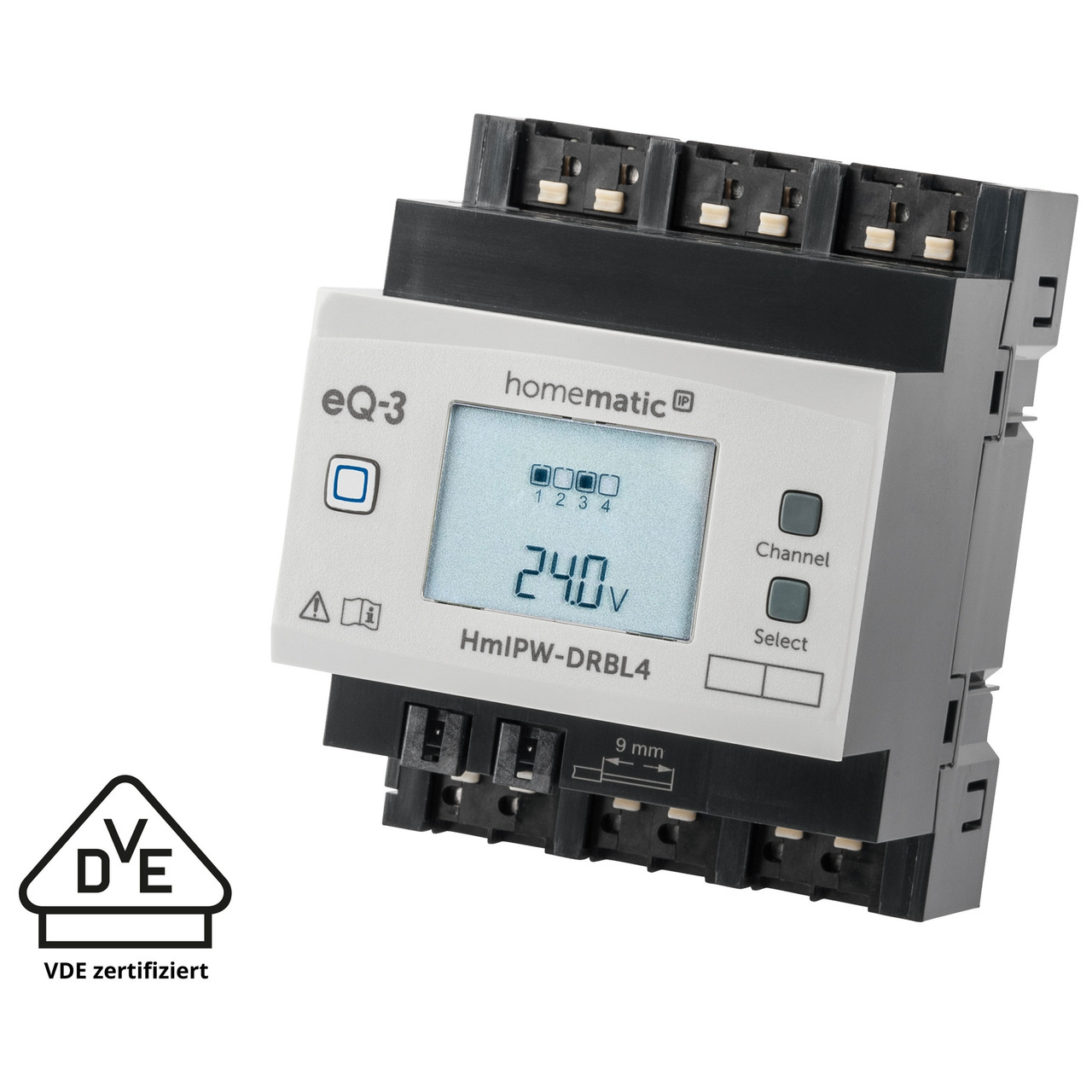 Homematic IP Wired Smart Home 4-fach-Jalousie-Rollladenaktor HmIPW-DRBL4- VDE zertifiziert