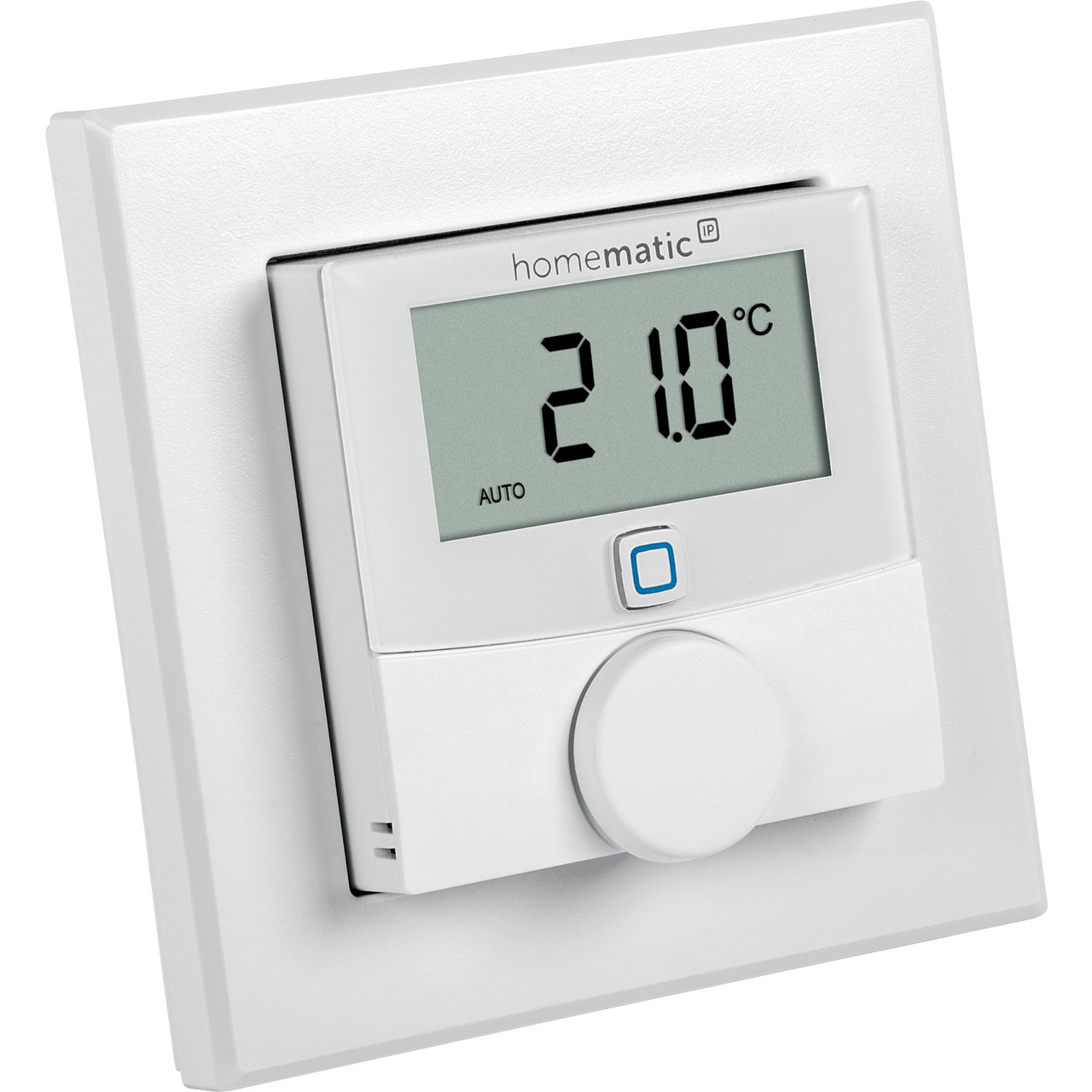 Homematic IP Wired Smart Home Wandthermostat mit Luftfeuchtigkeitssensor HmIPW-WTH