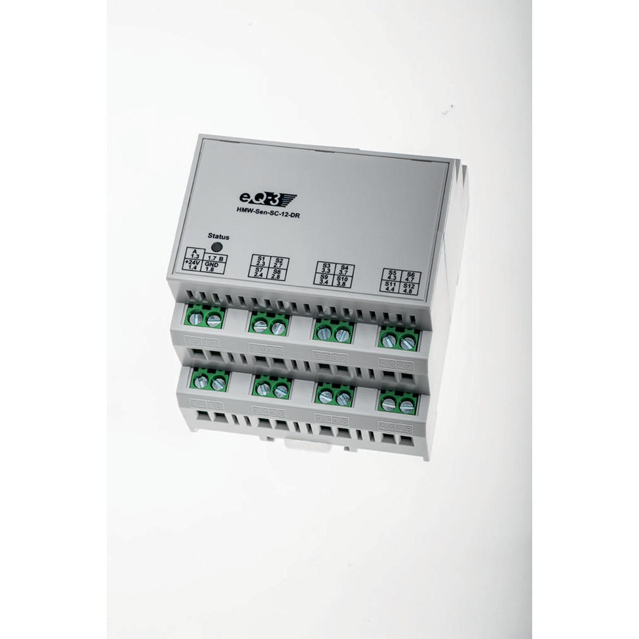 Homematic Wired RS485 Schliesserkontakt- 12 Eingänge- Hutschienenmontage HMW-Sen-SC-12-DR